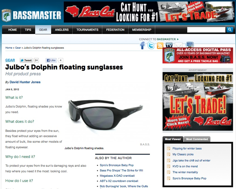 Julbo on Bassmaster.com