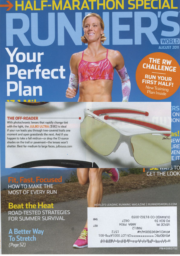 Julbo in Runner's World