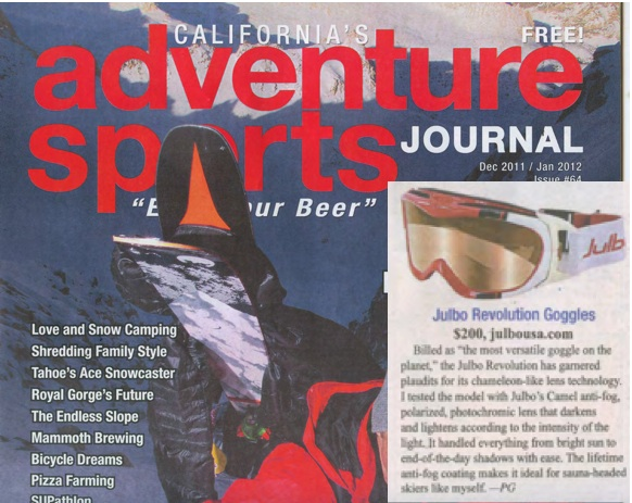 Julbo in Adventure Sports Journal